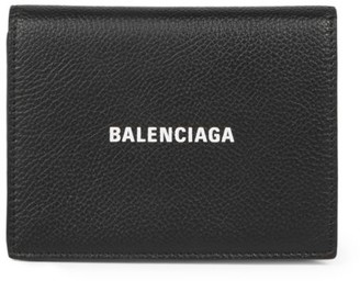Balenciaga Compact Leather Wallet-On-Chain