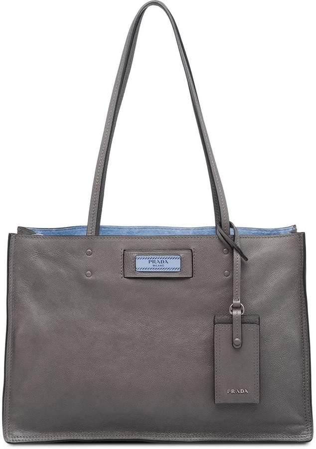 ae97d14411dc Prada Grey Leather Bags For Women - ShopStyle Australia