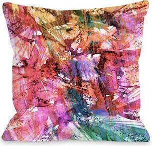 "BIRDS OF PREY Zuma Fashion Frenzy by Julia Di Sano Throw Pillow Latitude Run Size: 16"" H x 16"" W"