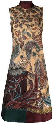Salvatore Ferragamo Printed Silk Dress