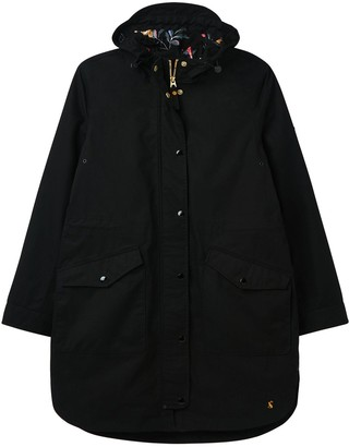 Joules Loxley Print Waterproof Raincoat - Black