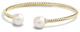 David Yurman Solari Pearl Bead Cuff Bracelet in 18K Gold