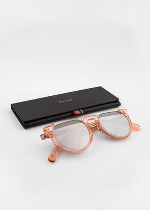 Paul Smith Peach Crystal 'Brixham' Sunglasses