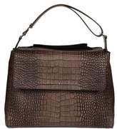 Orciani Women's Brown Leather Shoulder Bag.