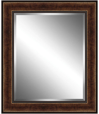 Watermark By Somerset House Rich Brown Traditional Style Wood Framed Beveled Plate Glass Mirror