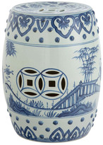 OKA Handpainted Chinese Barrel Seat - Ceramic