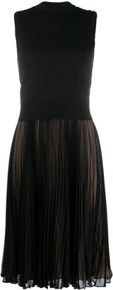 Neil Barrett Pleated Skirt Jumper Dress