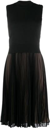 Neil Barrett Pleated Skirt Jumper Dress