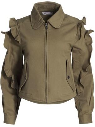 Dh New York Ruffle-Sleeve Zip Jacket