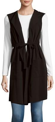 BCBGMAXAZRIA Solid Foldover-Collar Vest