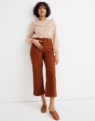 Madewell Tall Curvy Slim Emmett Wide-Leg Crop Pants
