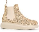 Alexander McQueen glitter Hybrid Chelsea boots