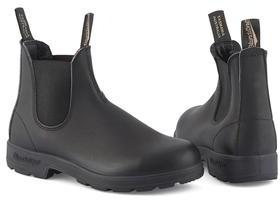 Blundstone Elastic Sided V Cut Black Premium 510 Boots - 3 - Black