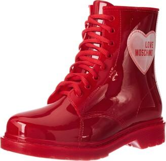 Love Moschino Women's JA24073G1BIR2500 Combat Boot