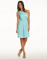 Le Château Knit One Shoulder Cocktail Dress