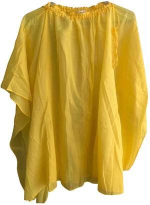 Christian Dior Yellow Cotton Swimwear