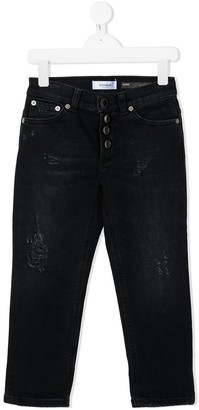 Dondup Kids High-Rise Straight Jeans
