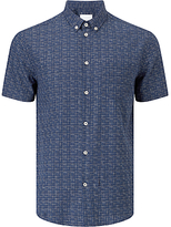 Samsoe & Samsoe Vento Cross Print Shirt, Blue Cross