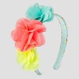 Cat & Jack Girls' Chiffon Flowers on Print Headband Cat & Jack