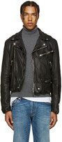 Burberry Black Wroxford Biker Jacket