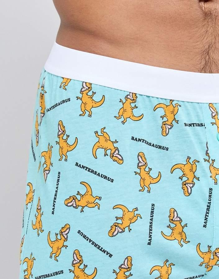 Asos Boxers With Bantersaurus Print