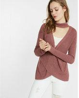 Express Cross Front Choker Sweater