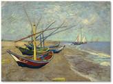 Trademark Fine Art Vincent van Gogh 'Fishing Boats on the Beach' Canvas Art, 32x24