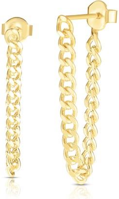 Sphera Milano 14K Gold Vermeil Chain Front & Back Earrings