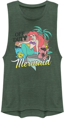 Juniors' Disney's The Little Mermaid Tropical Muscle Tank