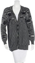 M Missoni Long Sleeve Button-Up Sweater