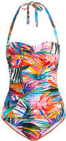 Ralph Lauren Ruched Halter One-Piece