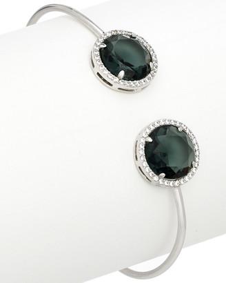 Rivka Friedman Rhodium Clad Simulated Diamond & Crystal Cuff