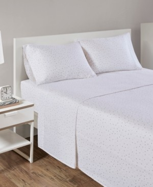 Intelligent Design Novelty Print Cotton Flannel Queen Sheet Set Bedding