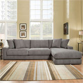Asstd National Brand Fabric Possibilities Ponderosa Quick Ship 2-Piece Left Arm Facing Chaise Sectional in Curious