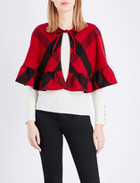 Burberry Corfton cropped wool cape