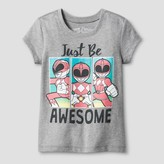 Power Rangers Toddler Girls' Awesome Again T-Shirt - Heather Gray