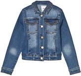 Mayoral Blue Washed Studded Denim Jacket
