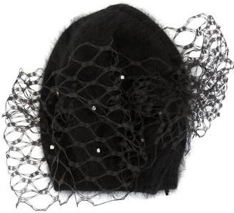 Celine Robert Storal veiled beanie hat