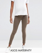 Asos Rivington Jean in Walnut Brown with Under the Bump Waistband