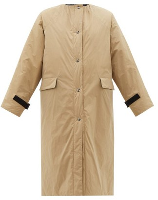 Kassl Editions - Padded Coated-taffeta Coat - Womens - Camel