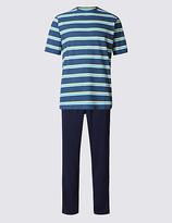 M&s Collection Pure Cotton Striped Pyjamas