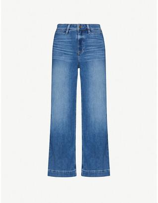 Paige Nellie Culotte wide-leg high-rise stretch-denim jeans