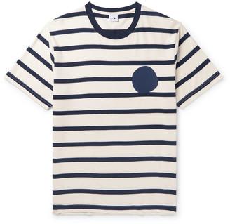 NN07 Dylan Logo-Print Striped Cotton-Jersey T-Shirt