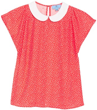 Cynthia Steffe Cap Sleeve Peter Pan Collar Blouse