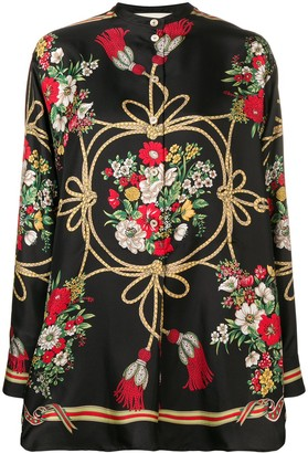 Gucci Floral silk blouse