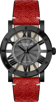Stuhrling Original Men's Leather Watch