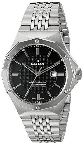 Edox Women's 54004 3M NIN Delfin Analog Display Swiss Quartz Silver Watch