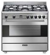 Smeg Pro-Style 36-Inch Free-Standing Dual-Fuel Range in Stainless Steel