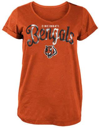 5th & Ocean Women Cincinnati Bengals Script Logo T-Shirt