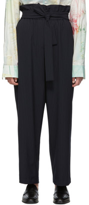 3.1 Phillip Lim Navy Paperbag Waist Trousers